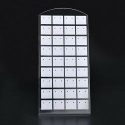 Fehér 72 lyuk - 72 lyukú fülbevaló ékszer kirakat műanyag állvány tartó szervező kijelző állvány