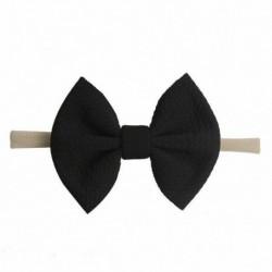 * 15 Fekete - Baby Rabbit fejpánt pamut elasztikus bowknot hajszalag lányok íjcsomós újszülött íj