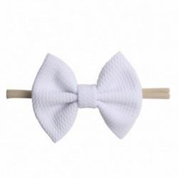 * 15 Fehér - Baby Rabbit fejpánt pamut elasztikus bowknot hajszalag lányok íjcsomós újszülött íj