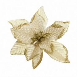 5db arany * - 5PCS csillogó művirágok karácsonyfa díszek karácsonyi esküvői dekoráció 2020