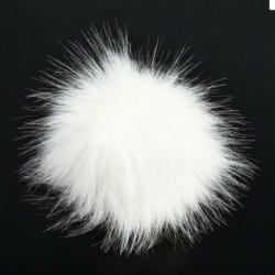 Fehér   Nyomógomb - Barkácsolás 10 cm 12 cm aranyos műnyúl szőrme Pom Pom labda pompom kötő kalap kiegészítők