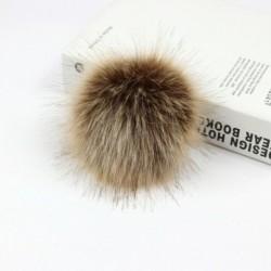 Kávé   gumiszalag - Elegáns 12 cm-es barkácsolás aranyos műnyúl szőrme Pom Pom labda pompom kötő kalap kiegészítők