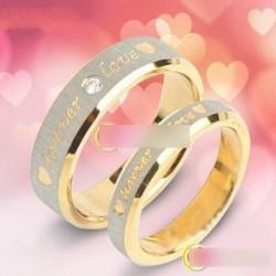 1 db örök szerelem felirat csillogó gyűrű női