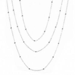 Ezüst - Divat többrétegű lánc ékszer kiegészítők egyszerű choker nyaklánc ezüst arany