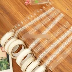 1db Áttetsző fehér ragasztószalag csipke matrica