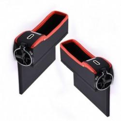 Jobb piros - Autósülési rés tároló doboz pohár italtartó szervező Auto Gap Pocket rendezése a telefonkártya érme