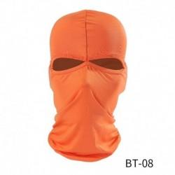 narancs - Balaclava 2 lyukú arcmaszk motorkerékpár lélegző kerékpáros Hawkeye szabadtéri lovagló motorkerékpár maszk