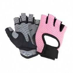 Rózsaszín - Motorkerékpár-kesztyű Kopásálló, ultravékony, légáteresztő motorkerékpár-kerékpáros kesztyű Fél
