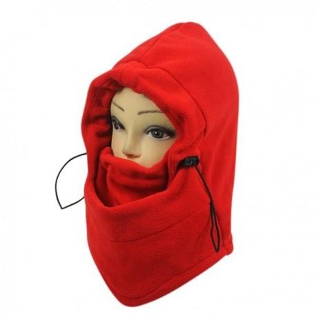 Piros - Szélálló poláros polár arcvédő szabadtéri sportok hósapka hegymászás téli melegítő sportmaszk