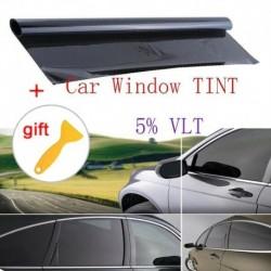 100x50cm - 100x50cm kiváló minőségű fekete autóablak TINT 5 VLT matrica matrica fólia   kaparó Nem fényvisszaverő
