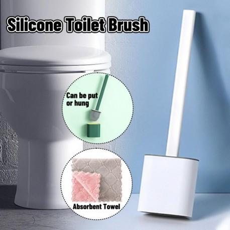 B - Falra szerelhető szilikon WC-kefe alapgumi fejtartóval Padlón álló, fali tisztító kefe Fürdőszoba kiegészítők