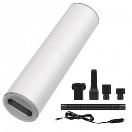 fehér - 4000Pa hordozható kézi porszívó 120W autós töltő dugaszolható vákuum HEPA szűrővel otthoni autószoba