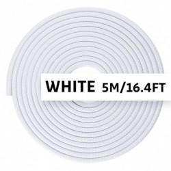 fehér - ELADÓ 5M-es univerzális autóajtó csomagtartó élvédő szalag díszléc U alakú védőtömítés gumiszalag