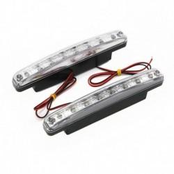 8LED nappali menetfény 12V fényszóró nappali világítás automatikus nappali menetfény DRL köd vezetési izzó egyetlen