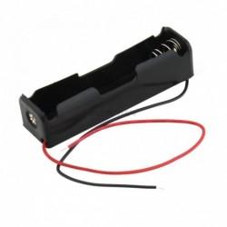 1 db tokdoboz tartó 1 x 18650 fekete, 6 hüvelykes vezetékkel vadonatúj műanyag akkumulátor tároló új
