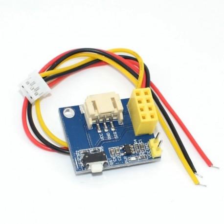 20db ESP8266 ESP-01 ESP-01S WS2812 RGB LED vezérlő modul az IDE WS2812 fénygyűrűhöz intelligens elektronikus barkács