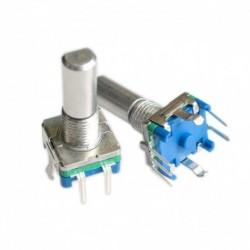 Eredeti, Rotációs kódoló, kódkapcsoló / EC11 / audio digitális potenciométer, kapcsolóval, 5Pin, fogantyú hossza 20mm