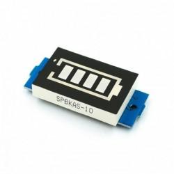 1S 3,7V - 1S 2S 3S 4S egyszemélyes 3,7 V-os lítium akkumulátor kapacitásjelző modul 4,2 V-os kék kijelzős elektromos
