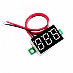 Piros - Zöld Kék Piros Második sor precíziós DC digitális voltmérő fej LED digitális voltmérő DC4.5V-30V