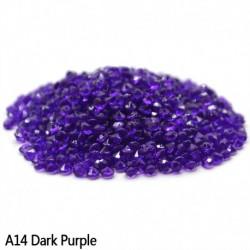sötét lila - Esküvői dekoráció 1000PCS 4,5 mm-es kézműves kristály konfetti asztal szórja át a kristályokat