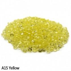 sárga - Esküvői dekoráció 1000PCS 4,5 mm-es kézműves kristály konfetti asztal szórja át a kristályokat Középső