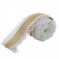 fehér - 2M zsákvászon szalag juta esküvői dekoráció rusztikus esküvői asztaldísz rusztikus természetes juta szalag