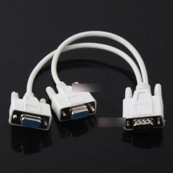 15 Pin VGA M - 2 VGA SVGA Adapter monitor Y kábel
