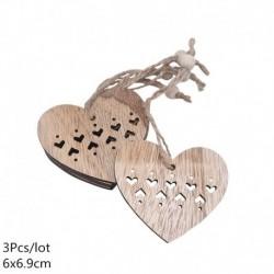 14. stílus - 3db szüreti fa medálok díszek Mikulás barkácsolás fa kézműves termékek karácsonyi díszek karácsonyi