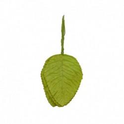 L06 Világoszöld - 40db nejlon műanyag levél zöld levelek művirág esküvői dekorációhoz DIY koszorú ajándék