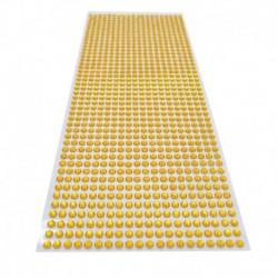 Arany - 900db / készlet 4 mm-es barkács öntapadó matrica telefon PC Art Bling kristály akril strasszos scrapbooking matrica