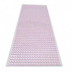 rózsaszín - 900db / készlet 4 mm-es barkács öntapadó matrica telefon PC Art Bling kristály akril strasszos scrapbooking