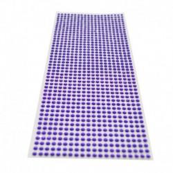 sötét lila - 900db / készlet 4 mm-es barkács öntapadó matrica telefon PC Art Bling kristály akril strasszos scrapbooking