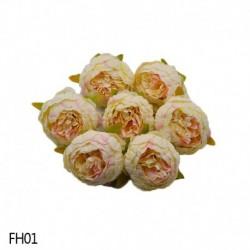 01 - 1 db 8 cm-es mesterséges bazsarózsa virágfejek DIY selyem virágfej esküvői otthoni parti dekorációs virágok hamis