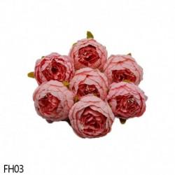 03 - 1 db 8 cm-es mesterséges bazsarózsa virágfejek DIY selyem virágfej esküvői otthoni parti dekorációs virágok hamis