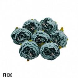 06 - 1 db 8 cm-es mesterséges bazsarózsa virágfejek DIY selyem virágfej esküvői otthoni parti dekorációs virágok hamis