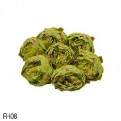 08 - 1 db 8 cm-es mesterséges bazsarózsa virágfejek DIY selyem virágfej esküvői otthoni parti dekorációs virágok hamis