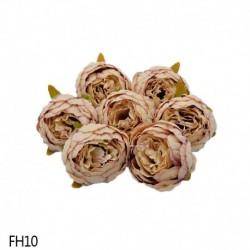 10. - 1 db 8 cm-es mesterséges bazsarózsa virágfejek DIY selyem virágfej esküvői otthoni parti dekorációs virágok hamis