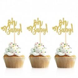 arany ó bébi - 10db arany ó baba cupcake topper fiú lány baba zuhany nemi felfedi gyerekek 1. születésnapi party