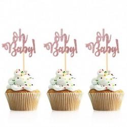 rózsaarany ó bébi - 10db arany ó baba cupcake topper fiú lány baba zuhany nemi felfedi gyerekek 1. születésnapi party