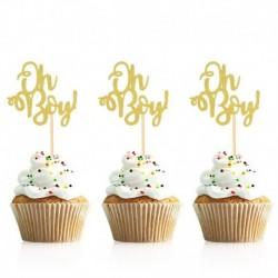 arany ó fiú - 10db arany ó baba cupcake topper fiú lány baba zuhany nemi felfedi gyerekek 1. születésnapi party