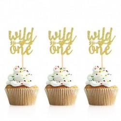 vad - 10db arany ó baba cupcake topper fiú lány baba zuhany nemi felfedi gyerekek 1. születésnapi party dekorációs torta