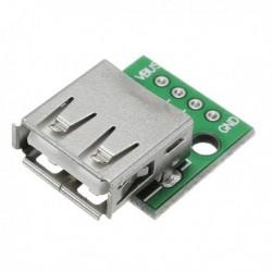 Az USB 2.0 csatlakozófej a DIP 4p egyenes dugaszú adapter kártyához hegesztett mobiltelefon tápkábelt kapott