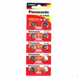 10 X PANASONIC AG12 LR43 186 0 Hg órákhoz Játékok 1,5 V-os alkáli elemek Számológéphez 0 Hg