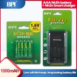 4db Ni-Zn 1.6V AAA 1000mWh mAh újratölthető akkumulátor fényképezőgép borotvajátékhoz PK Ni-MH akkumulátor   BPI NiZn