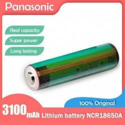 Névleges feszültség: 3,7 V - 100 -ban eredeti Panasonic NCR18650A 3.7V 3100mah 18650 újratölthető lítium akkumulátor