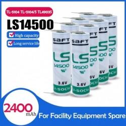 8 db eredeti SAFT LS14500 ER14505M 3,6 V 2400MAH AA lítium akkumulátor PLC ipari automatizálási berendezésekhez CNC gép