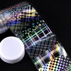 03 - 1db 4 * 100cm köröm matrica holografikus lángvirág pitypang köröm mintázat transzfer matrica matricák köröm
