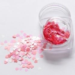 11. - 1Box vörös köröm csillogó pelyhek szerelmes szív alakú csúszó fényes flitteres szerelem szív alakú laza