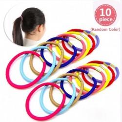 10db véletlenszerű szín - 10 / 50PCS női lányok hajkötél cukorkák egyszínű egyszerűség haj kiegészítők gumiszalag