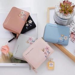 Női rövid graffiti pénztárca hordozható PU bőr kártya tartó pénztárca